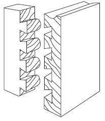 Conventional Half-Blind Dovetail