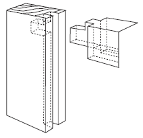 Haunch Mortise and Tenon